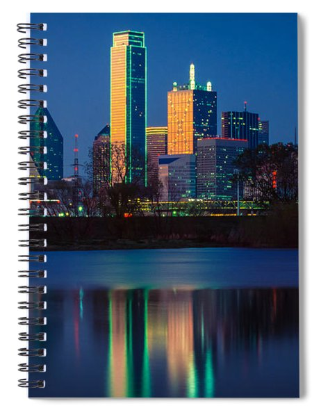 Spiral Notebook featuring the photograph Big D Reflection by Inge Johnsson