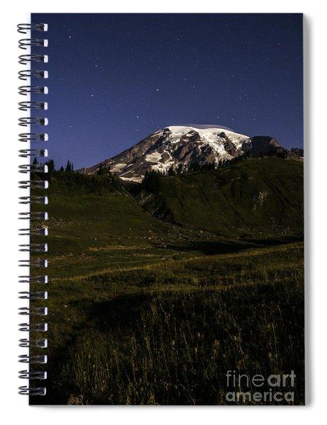 Big Dipper Over Mt Rainier Spiral Notebook