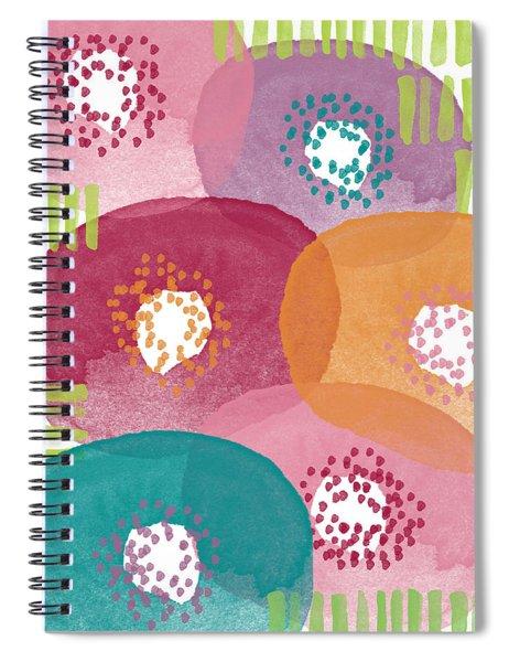 Big Garden Blooms- Abstract Florwer Art Spiral Notebook