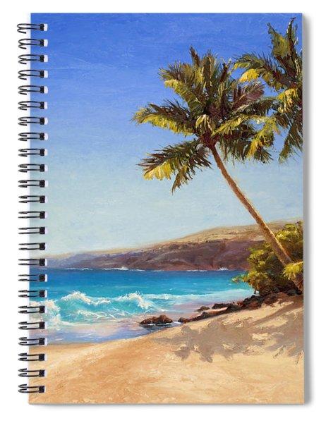 Hawaiian Beach Seascape - Big Island Getaway  Spiral Notebook