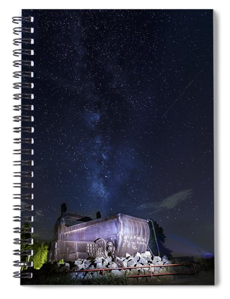 Big Muskie Bucket Milky Way And A Shooting Star Spiral Notebook