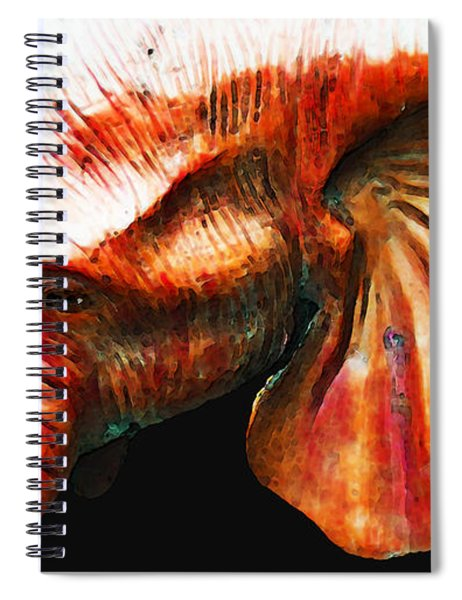 Big Red - Elephant Art Painting Spiral Notebook