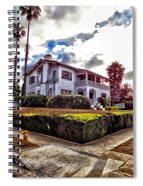 Big White House On The Corner Spiral Notebook
