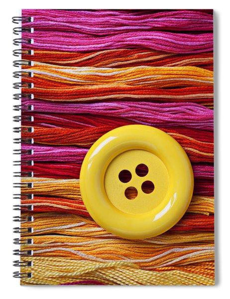 Big Yellow Button  Spiral Notebook