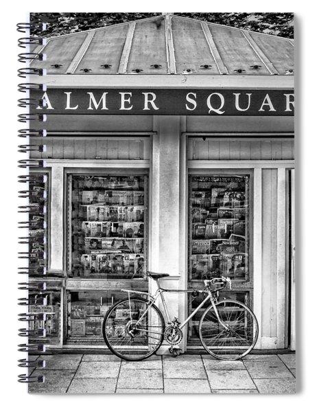 Bike At Palmer Square Book Store In Princeton Spiral Notebook