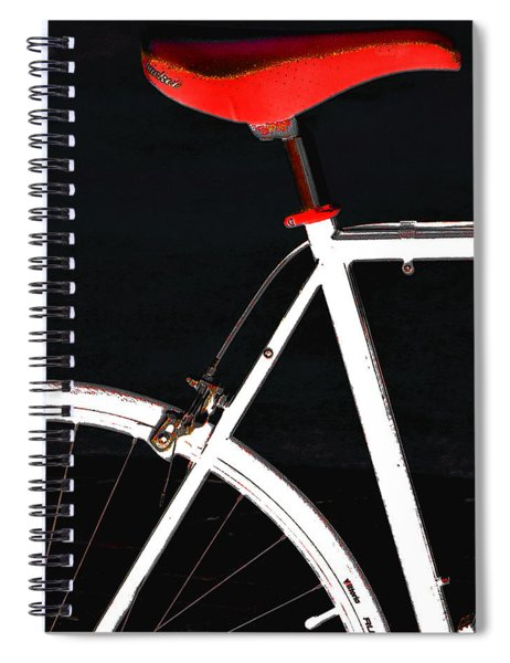 Bike In Black White And Red No 1 Spiral Notebook