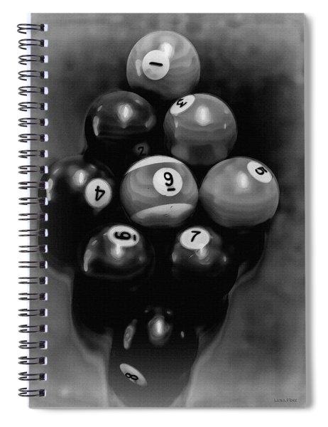 Billiards Art - Your Break - Bw  Spiral Notebook
