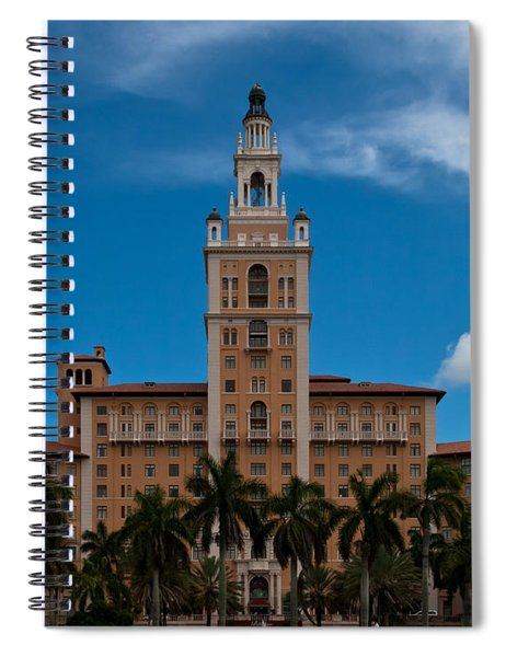 Spiral Notebook featuring the photograph Biltmore Hotel Coral Gables by Ed Gleichman
