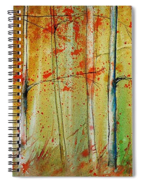 Birch Tree Forest I Spiral Notebook