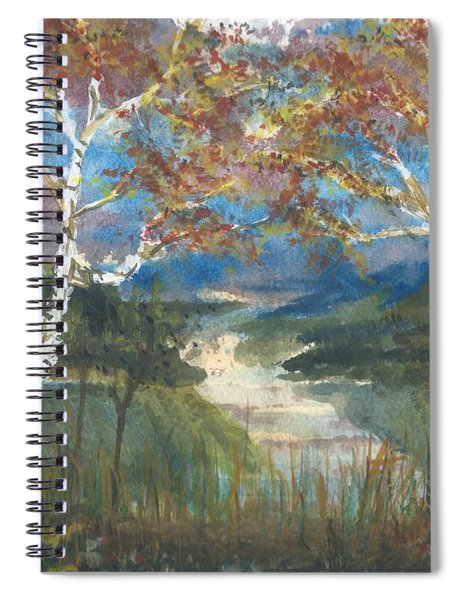 Birch Trees On The Ridge  Spiral Notebook
