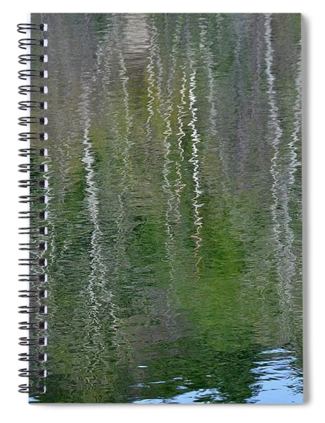 Birch Trees Reflected In Pond Spiral Notebook