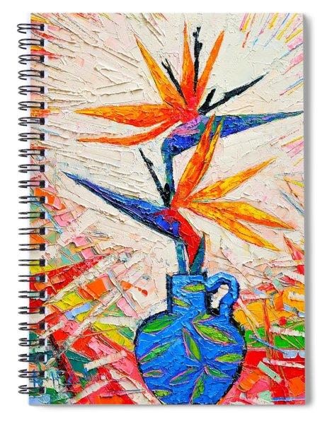 Bird Of Paradise Flowers Spiral Notebook
