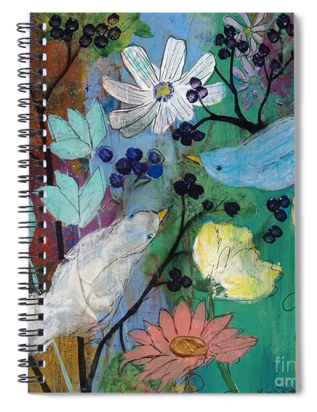 Birds And Berries Spiral Notebook