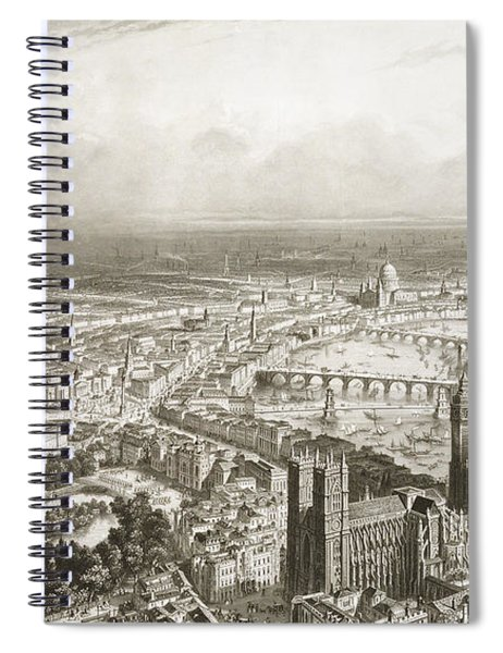 Birds Eye View Of London From Westminster Abbey Spiral Notebook