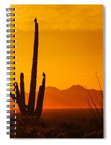 Birds In Silhouette Spiral Notebook