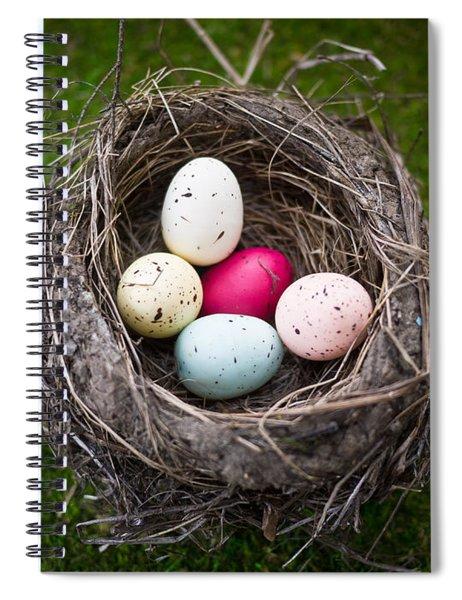 Bird's Nest With Easter Eggs Spiral Notebook