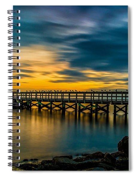 Birds On The Dock Spiral Notebook