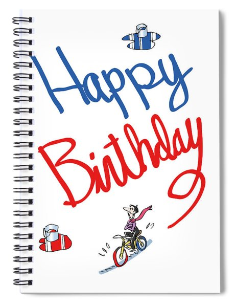 Birthday Bicycle Painter Spiral Notebook