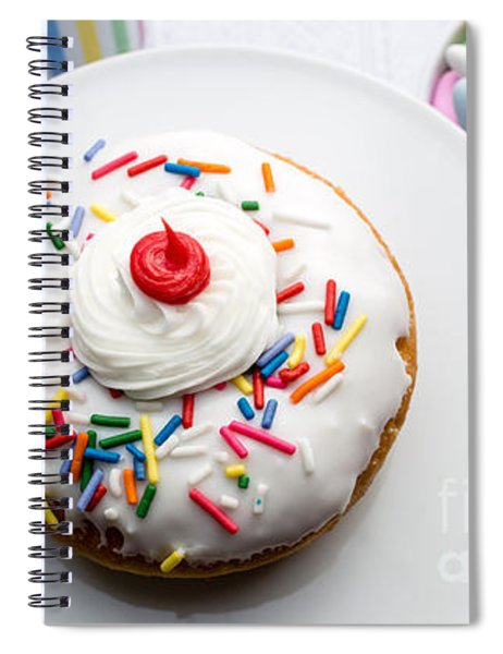 Birthday Party Donut Spiral Notebook