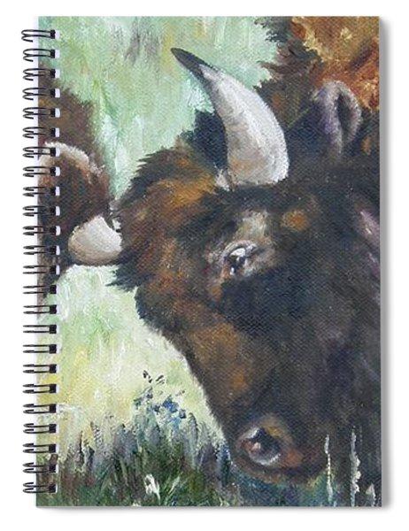 Bison Brawl Spiral Notebook