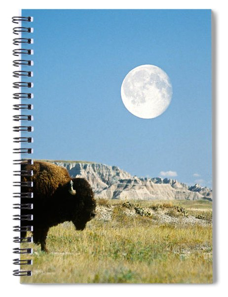 Bison In Badlands National Park Spiral Notebook