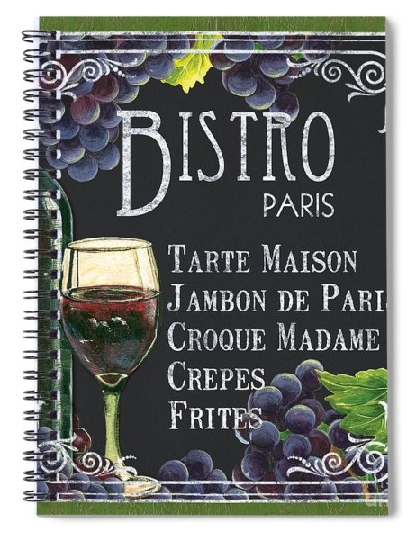 Bistro Paris Spiral Notebook