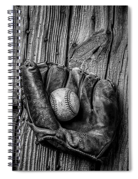 Black And White Mitt Spiral Notebook