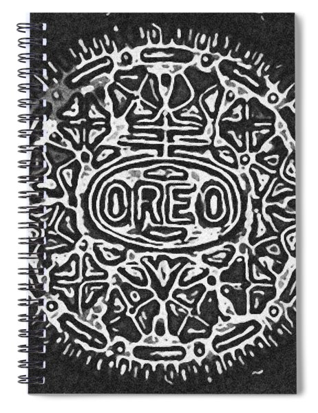 Black And White Oreo Spiral Notebook