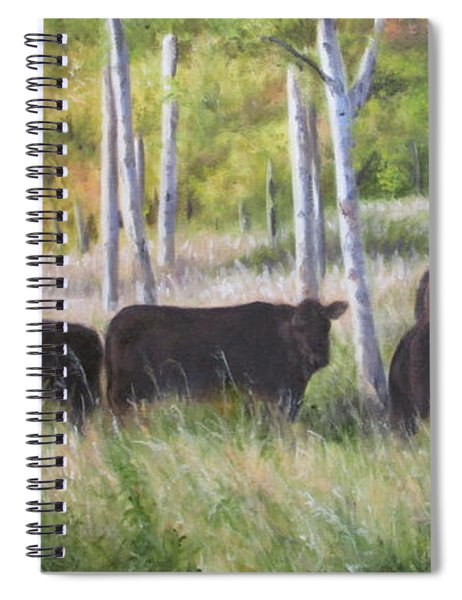 Black Angus Grazing Spiral Notebook