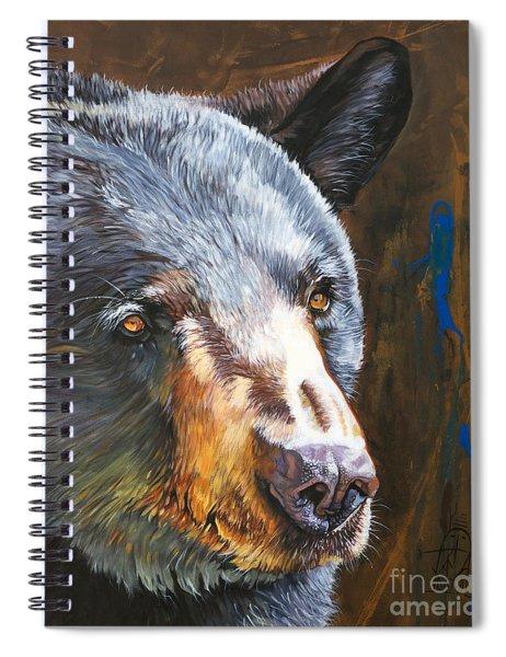 Black Bear The Messenger Spiral Notebook