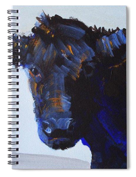 Black Cow Head Spiral Notebook