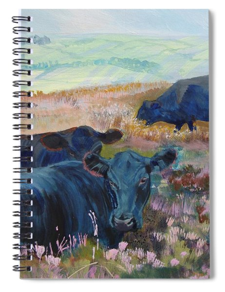 Black Cows On Dartmoor Spiral Notebook