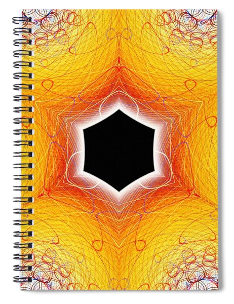Black Cube Spiral Notebook