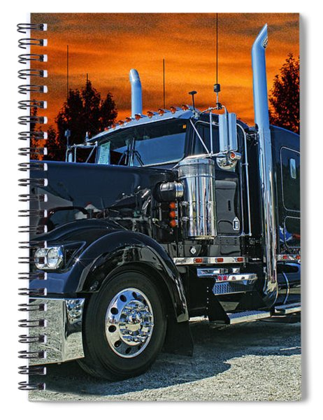 Black Kenworth Spiral Notebook