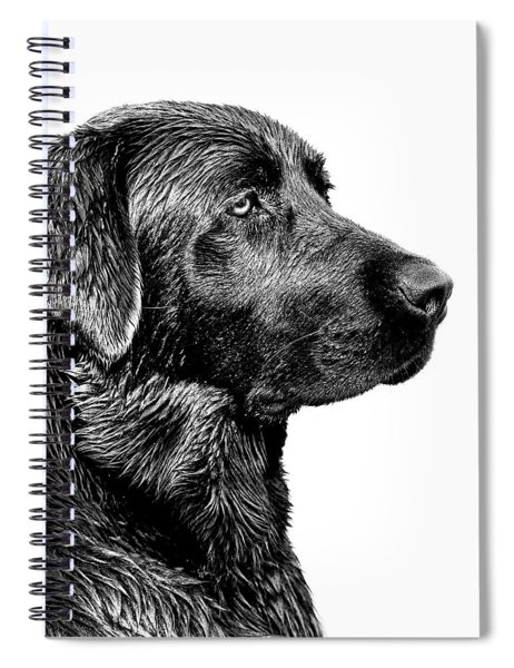 Black Labrador Retriever Dog Monochrome Spiral Notebook
