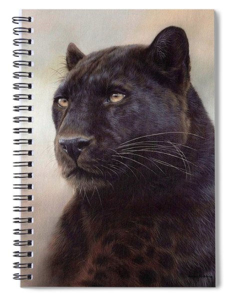 Black Leopard Painting Spiral Notebook