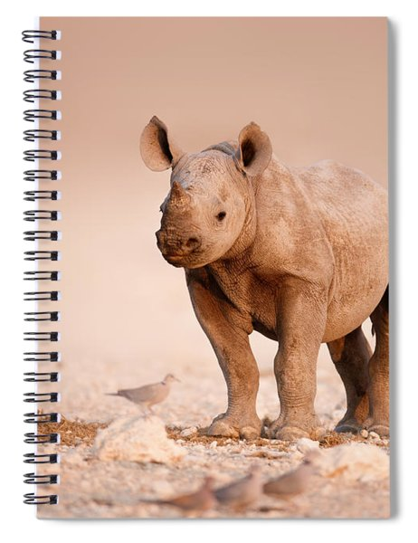 Black Rhinoceros Baby Spiral Notebook