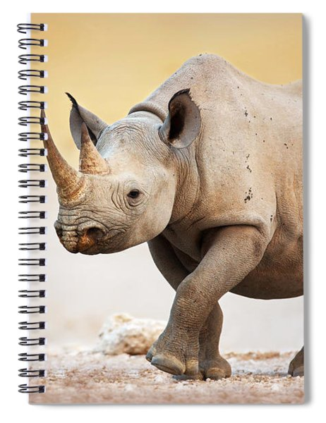 Black Rhinoceros Spiral Notebook