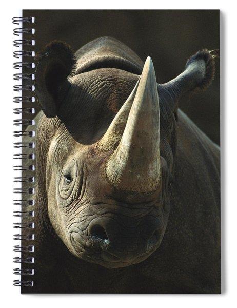 Black Rhinoceros Portrait Spiral Notebook