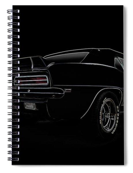 Black Ss Line Art Spiral Notebook