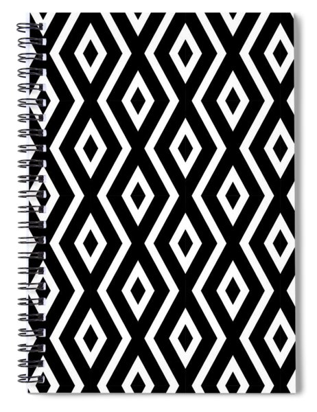Black And White Pattern Spiral Notebook by Christina Rollo