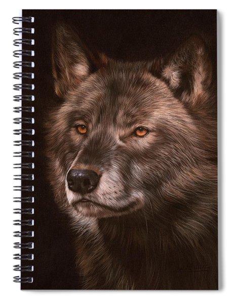 Black Wolf Spiral Notebook