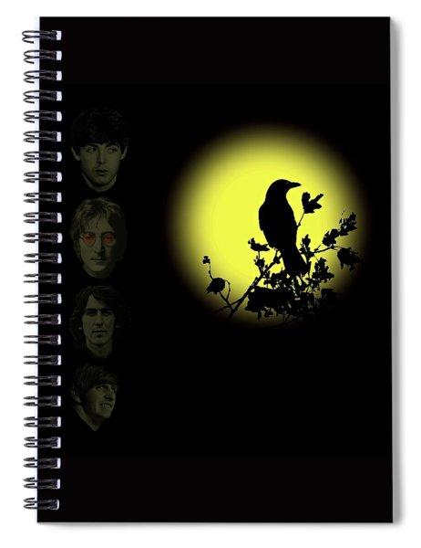 Blackbird Singing In The Dead Of Night Spiral Notebook