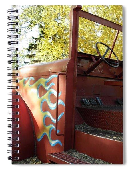 Blazing Red Fire Truck Spiral Notebook