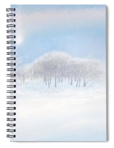 Blizzard Coming Spiral Notebook