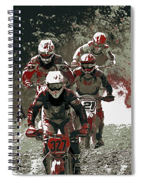 Blood Sweat And Dirt Spiral Notebook