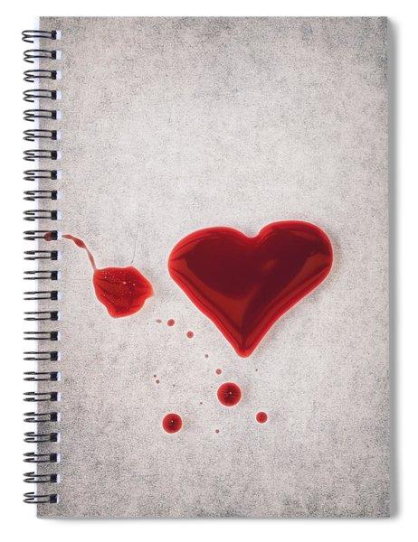 Bloody Heart Spiral Notebook