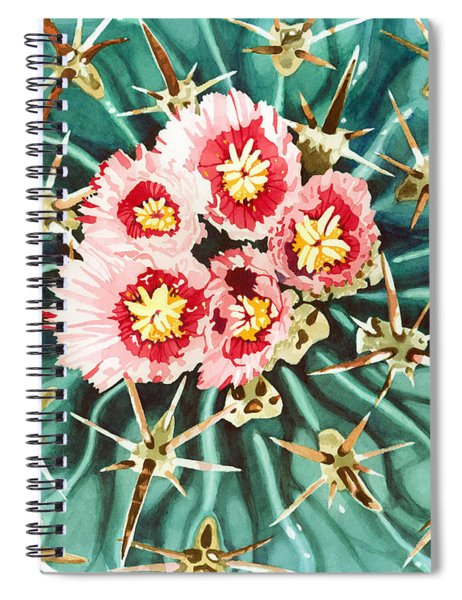 Bloomin' Horse Crippler Cactus Spiral Notebook