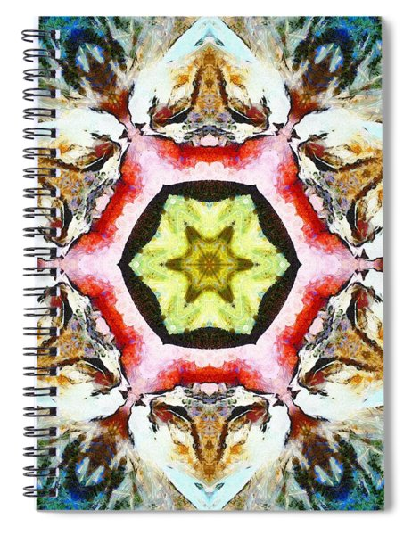 Blooming Fibonacci Spiral Notebook