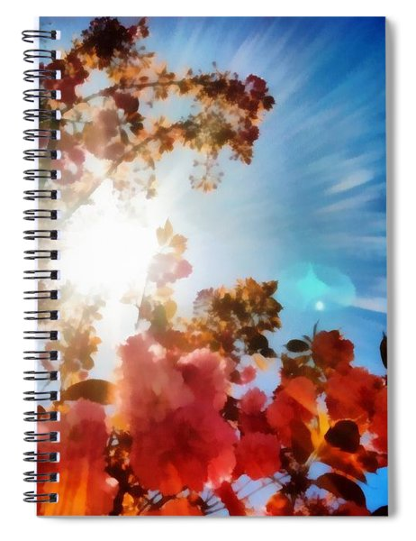 Spiral Notebook featuring the painting Blooming Sunlight by Derek Gedney